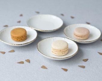 4 placa de barra de caramelo hecho de porcelana con acabado de oro, decoración de la mesa, candy bar, Naschbar, decoración de la boda, estilo: vintage, romántico, juguetón