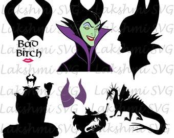 Disney Villain SVG, maleficient,maleficient svg, maleficent silhouette, maleficent cut file,  Halloween svg,maleficent png