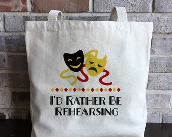 Theater Tote bag - Theater Gift - Theatre Gift - Actor Gift - Actress Gift - Musical Gift - Musician Gift