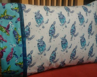 Travel pillowcase. The sea turtle.  One of earths most ancient creatures.