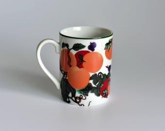 Vintage, Hues n Brews,Herman Dodge,Tea Cup,Coffee Mug,Japan Mug,Made in Japan,Grape Mug,Peach Mug,Plum Mug