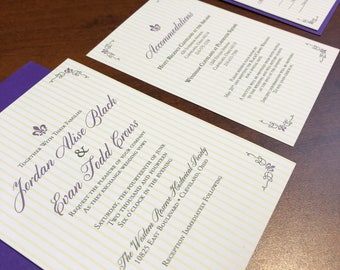 New Orleans Inspired  Invitation