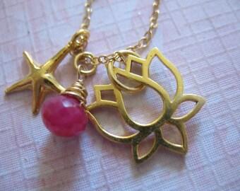 LOTUS Charms / Lotus Pendant / LOTUS OUTLINE / 24k Gold Vermeil / 16.5x16 mm / relaxing / yoga / meditation / organic / nature / art,,