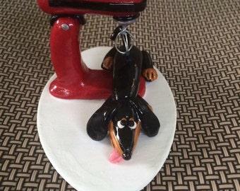 Buddy B/T Doxie Dachshund figurine