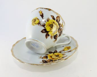 Cup and Saucer, Bone China, England