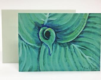 Harmonious Hosta - Botanical Illustration Greeting Card