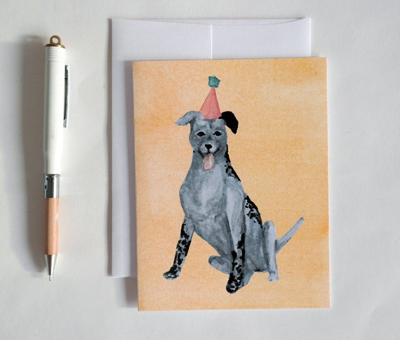 Greeting Card: Party Dog VI