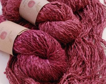 COTTON LINEN yarn~ LINCOT~ Granny Bonnet ~ summer yarn, quick knit, knitting yarn, crochet, weaving, texture, linen, flax, rustic, cotton