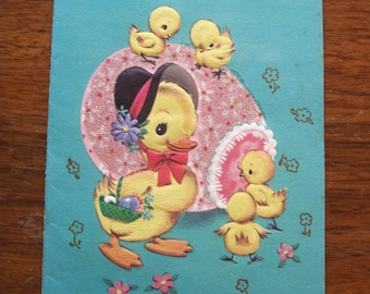 1950s USED Card, Easter, no envelope