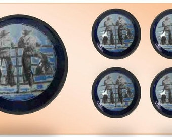Cowboy Decor-Western Ranch Hands Knobs, Buy One or Two or a Dozen. Choose Your Favorite Knob Color