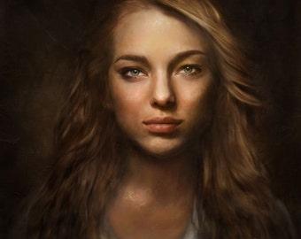 Custom Portrait, Custom Lady Portrait, Lady Commission, Custom Digital Portrait, Model Portrait, Personalized Digital Drawing, Artimoment