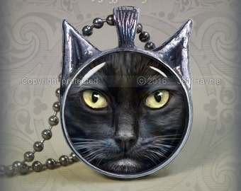 BLK18 Black Cat pendant