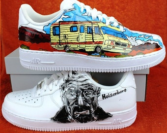 "Custom NIKE air force  hand-painted ""BREAKING BAD"" 