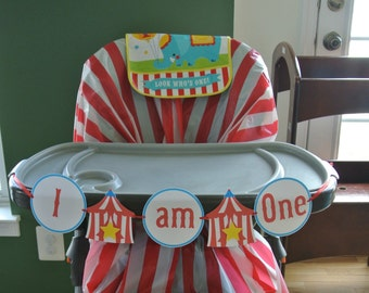 Circus I am One High Chair Banner   Instant Download Printable