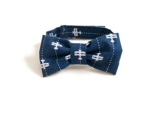 Aeroplane Bow Tie ~ Baby Bow tie ~Blue airplane bow tie ~ Daddy and me bow tie~ page boy tie~ wedding bow tie~ Spring bow~ airplane Birthday