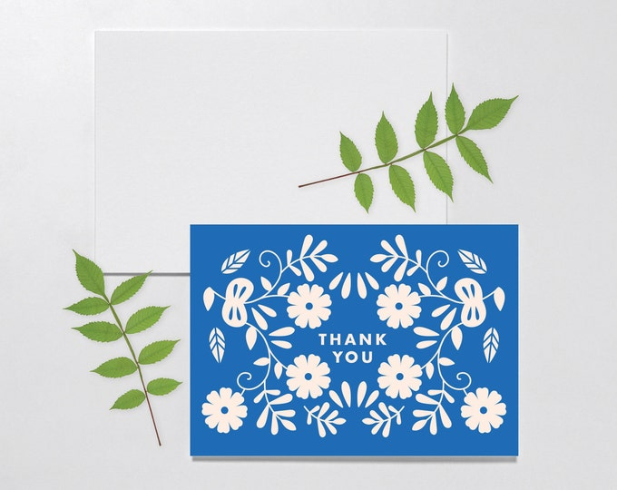 Thank You Card, Scandinavian Stationary, Blank Card