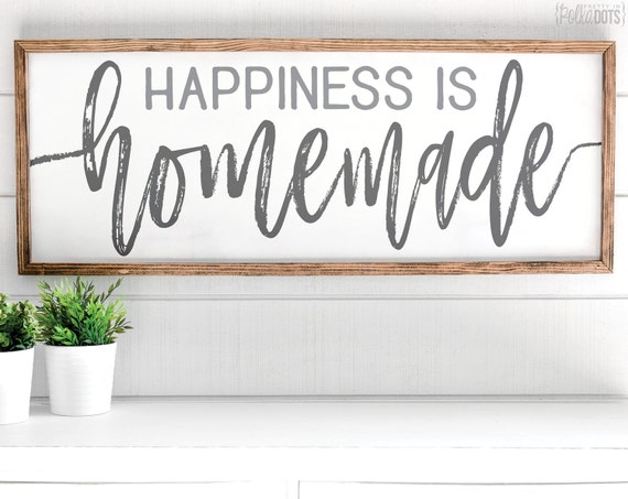 Clean image for happiness is homemade