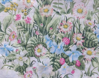 Vintage standard floral pillowcase