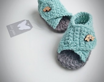 Baby boy shoes, Crochet Baby Boy Shoes, Baby boy sandals, Baby Sandals, Baby Shoes, Crochet Baby Boy Sandals, mint  green, baby shower gift