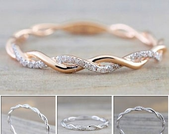 Twist Rope Stacking Rings