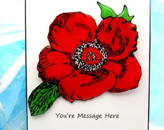 Remembrance day pin etsy poppy pin for memorial day or remembrance day hand painted resin jewelry large flower brooch military wife gift mightylinksfo