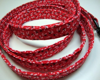 Holiday Candy Cane Red Leash Medium