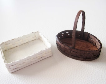 Miniature dollhouse kit for two baskets