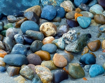 Beach Rocks, Landscape Photography, Nature Photo, Edmonds Washington