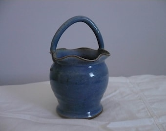 Blue Pottery Basket