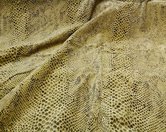 Snake Python skin Faux Suede Fabric Decorative