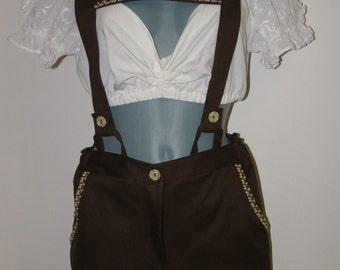 Oktoberfest plain Ladies cotton Lederhosen