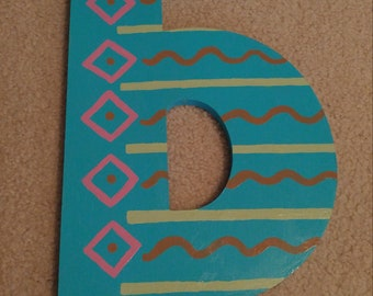 Painted Lowercase Letter B