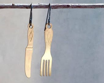 End Hunger Cause earrings- Sales of the Fork and Knife earrings proceeds donated to Alameda County Community Food Bank