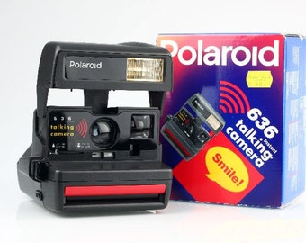 Polaroid 636 Talking Camera - Tested - with Box