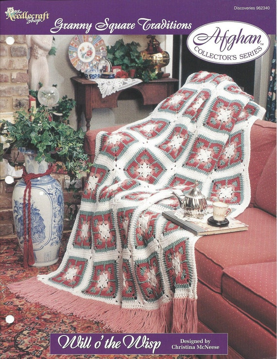 Crochet Granny Square Flower Afghan Pattern Home Decor