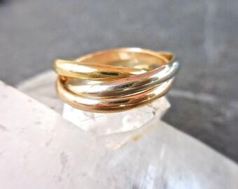 Rolling Ring White Gold Rolling Ring 3 white gold rings