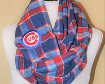 Cubs Flannel Scarf - Men's or Women's