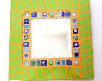 """Mosaic mirror """"ANICE"""" 30 x 30 cm"""