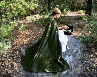 Medieval hooded cloak, medieval cloak with hood