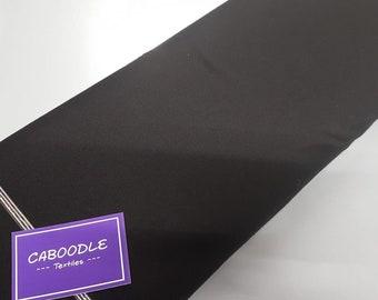 Black, Cotton Lycra Jersey Knit Fabric