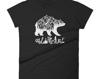 Mountain Bear Outdoor Adventure Wanderlust Women's short sleeve t-shirt