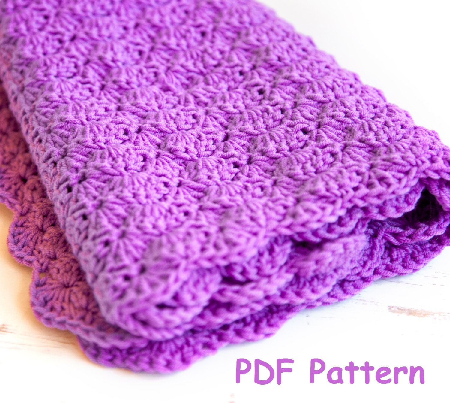 Crochet shell stitch baby blanket pattern easy crochet for zoom bankloansurffo Gallery
