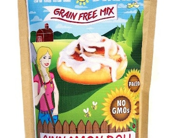 Grain Free - PALEO Cinnamon Roll Baking Mix - naturally gluten free!  10.2oz