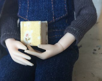 Miniature Book- Yellow Floral