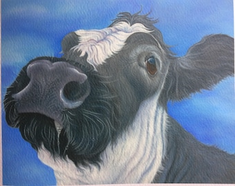 "british blue cow painting ""Dorothy"""