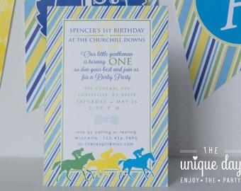 Horse racing invite Etsy
