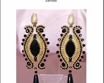 "TUTORIAL ""Cleopatra's Eye"" earrings / orecchini"