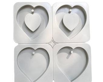 Wax Sachet Silicone Mold - Heart Shape Mold for Aroma High Stone