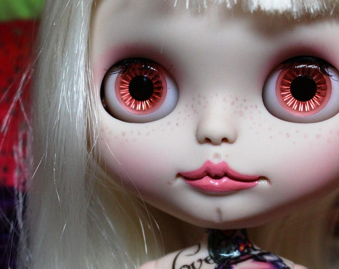 Custom Neo Guava Blythe PRISCILLA Punk Tattoo Cyborg Girl Blythe Doll by Sassy Grace