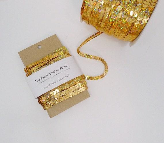 Gold Sequin Ribbon